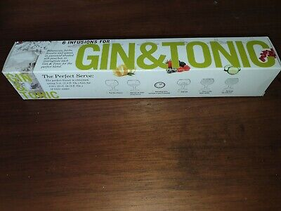 Box Set Of 6 Infusion Pouches For Gin & Tonic. BNIB