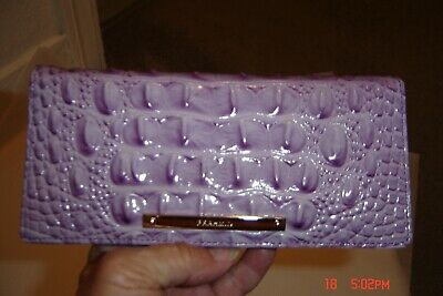 """Brahmin  """"Lavender """"  Leather Ady Wallet- New With Defects!!!"""
