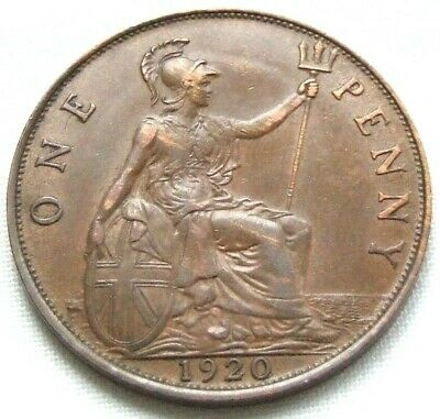 1920 Penny - Lovely Condition Coin, Lots of Detail - FREE POSTAGE (170G)