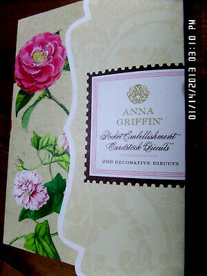 ANNA GRIFFIN Pocket Embellishments Cardstock Decorative Diecuts 288 Cardmaking.