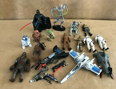 Star Wars Kenner & Disney PVC ship Action Figure Toy lot general grievous 2000s