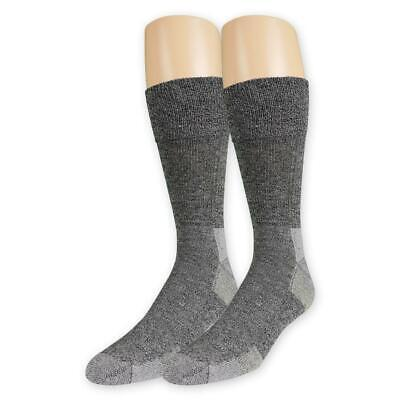 Dr. Scholls Mens Advanced Relief BlisterGuard Diabetic Crew Socks 2 Pr Charcoal