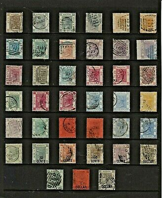 HONG KONG Stamp COLLECTION  All Victorian ISSUES Postmark Interest REF:QP589a