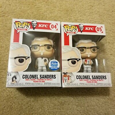 Funko Pop! Ad Icons KFC Colonel Sanders Bucket Common & Cane Funko Shop Set of 2