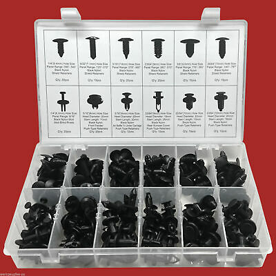 192 Pz. Clip di Fissaggio Assortimento Rivetti Set Carenatura Clips Set Box