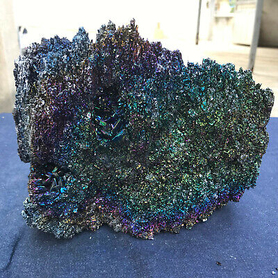 9.15LB Silicon carbide Colorful quartz crystal mineral specimen healing