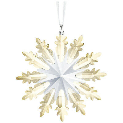 Winter Star Ornament Gold Snowflake 2019 Christmas Swarovski Crystal 5464857