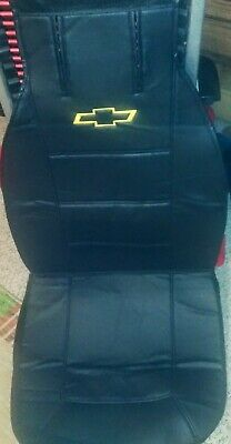 Chevrolet Chevy Bowtie Logo Car Truck SUV Front Sideless Seat Cover