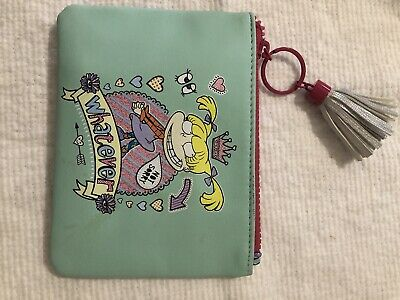 Nickelodeon Rugrats Angelica Turquoise/pink zipped Purse