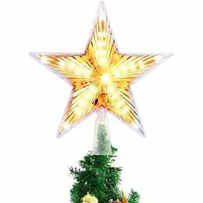 Tree Toppers Christmas Topper, 8 Inch Star Treetop Decoration Light For Xmas