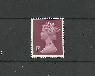 Great Britain Machin 1p FCP GA 2 Band SG X844EG U58 MNH