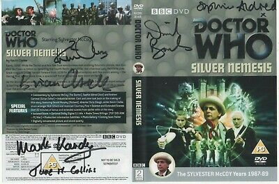 Dr Who Silver Nemesis DVD Cover Auto by 6 People