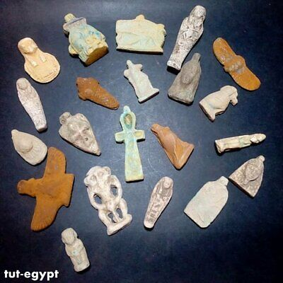 very rare collection of ancient Egyptian amulets amazing art very unique 1816 BC