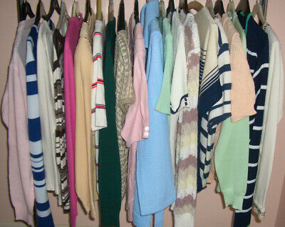 Ladies Vintage 1970s/1980s Jumpers/Cardigans/Tops Job Lot x 20 Small Sizes 10-12