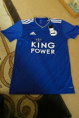 New with Tags Men's Adidas 2018-19 Leicester City Home Shirt  Size Small