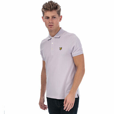 Mens Lyle And Scott Plain Polo Shirt In Lilac