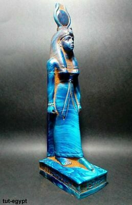 ANCIENT EGYPTIAN ANTIQUE EGYPT Statue of Goddess  ISIS  stone stand 380-362 Bc