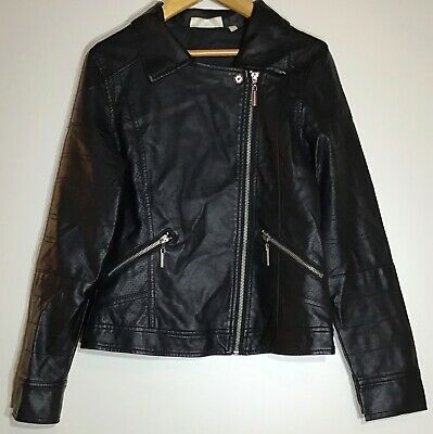 Girls Faux Leather Jacket 11-12 Tammy Girl <H9075