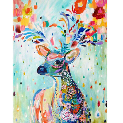 Deer Digital Oil Painting Canvas Paint By Numbers Coloring Wall Art Picture WT7n