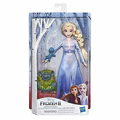 New Disney Frozen Elsa Fashion Doll in Travel Outfit Inspired by Frozen 2 Pabbie