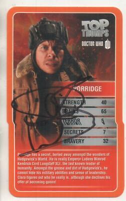 "Dr Who Top Trumps Card Auto by Warwivk Davis ""Porridge"""