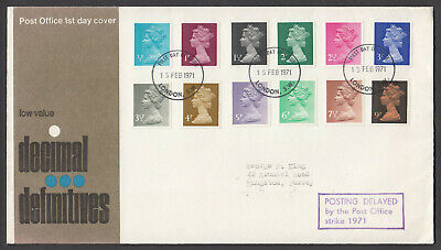 GB 1971 QEII. ☀ decimal definitives First Day issue ☀ FDC cover London S.W.