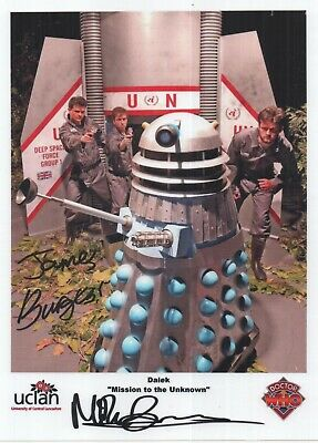"Dr Who Mission Unknown DUAL Auto Photo Print James & Mike Burgess ""DALEKS"""