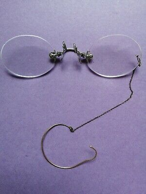 Vintage Rimless Gold Pince Nez Spectacles