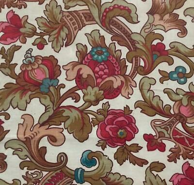BEAUTIFUL  MID 19th CENTURY FRENCH LINEN COTTON INDIENNE v GOOD CONDITION 405