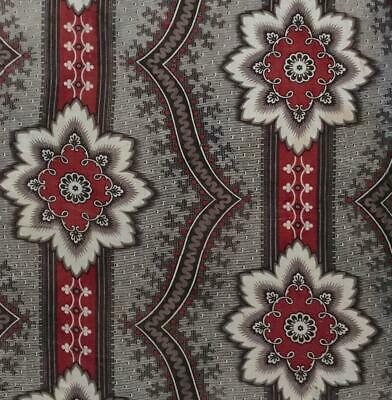 BEAUTIFUL MID 19th CENTURY FRENCH COTTON MADDER PRINT c1840s 445