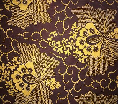 BEAUTIFUL EARLY 19th CENTURY EMPIRE BLOCK OR RESIST PRINT LINEN COTTON c1810 435