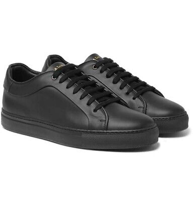 Paul Smith Gent's Mens 'Basso' Matt Black Leather Trainers Size 6 New In Box