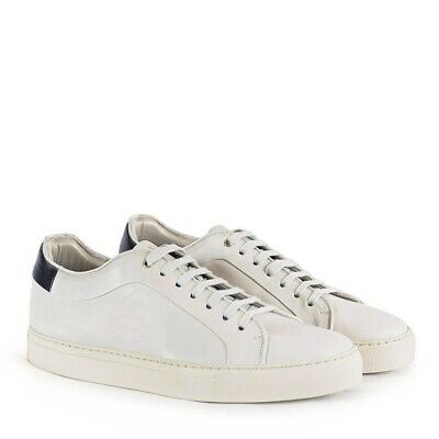 Paul Smith Men's Basso Quiet White Calf Leather Trainers  Sneakers Size 11 New