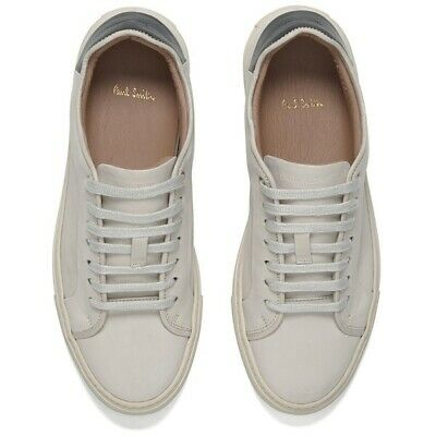 Paul Smith Gent's Mens Basso Quiet White Calf Leather Trainers Size 6 New In Box