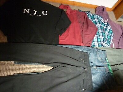 Bundle Boys Clothes 15-16yrs Jeans Trousers Tops Hoodie Shirt Sweater Next Easy