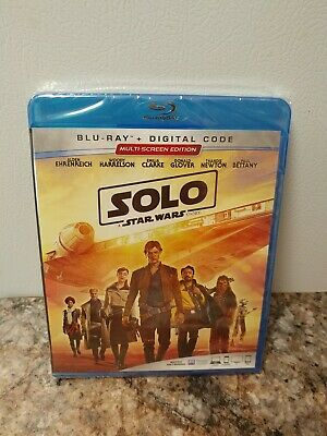 Solo: A Star Wars Story (Blu-ray + Digital) FACTORY SEALED