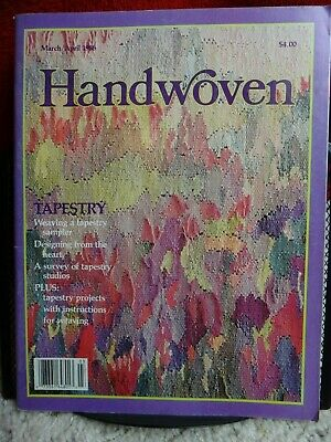 March/April 1988 Handwoven Weaving Magazine: Tapestry Special Issue