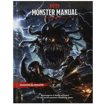 D&D Dungeons & Dragons Monster Manual 5th Edition By Wizard @HobbyGames
