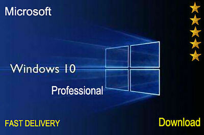 Windows 10 Pro Key 32 64 Bits Professional License Key Original - Fast Delivery