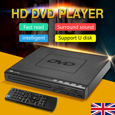 DVD Player Compact Multi Region ADH CD VCD Music Disc Upscaling USB + Remote UK