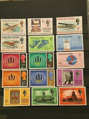 Mint MNH 24 unused Falkland Islands British Commonwealth stamps