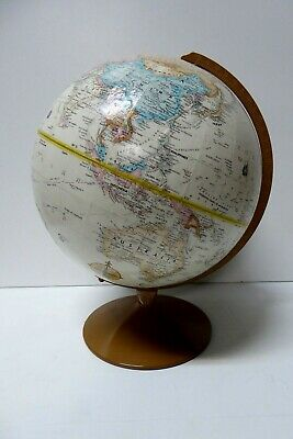 "Vintage Repogle World Globe 12"" 30Cm On Metal Stand Classic Series"