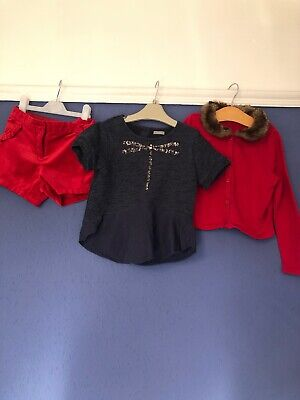 Gorgeous Girls Next M&S Top Cardigan Velvet Shorts Outfit Christmas 5-6