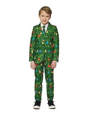 Suitmeister Boys Christmas Green Tree Light Up Suit