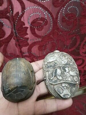 2 RARE ANCIENT EGYPTIAN ANTIQUE Scarab Carved  Stone For decoration Bc