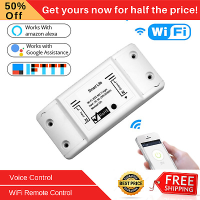 Smart Light Switch WiFi Wireless Remote Voice Control Works with Alexa Google