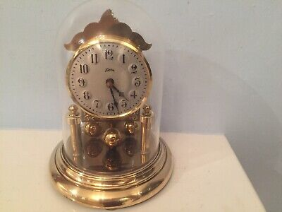 German Vintage Style KOMA HERMLE mantle clock Dome Quartz Rotating Ball Pendulum