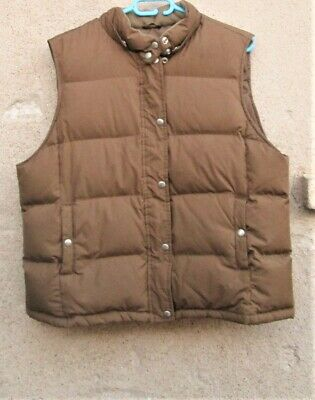 GAP Down Puffer Vest-XL, winter clothing, brown coats, hooded vests