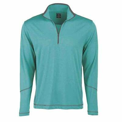 Page & Tuttle Coverstitch Heather Mock Neck  Athletic Golf  Outerwear Green Mens
