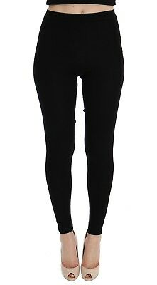 DOLCE & GABBANA Tights Pants Black Cashmere Stretch Waist IT42 /US8 / M RRP $840